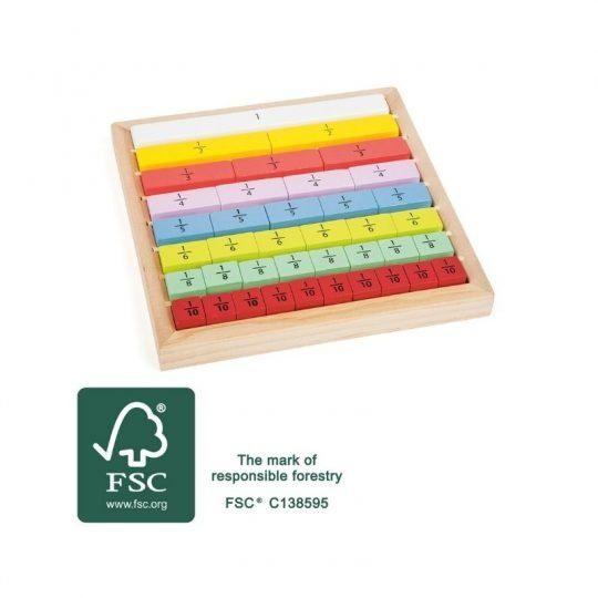Plateau de Fraction Montessori 1