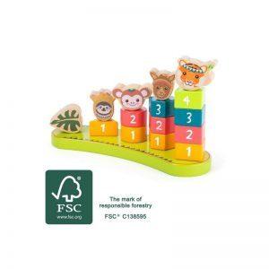 jeu a empiler montessori jungle 2