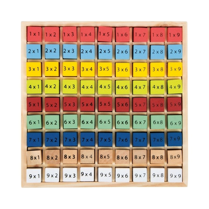 table de multiplication montessori 3
