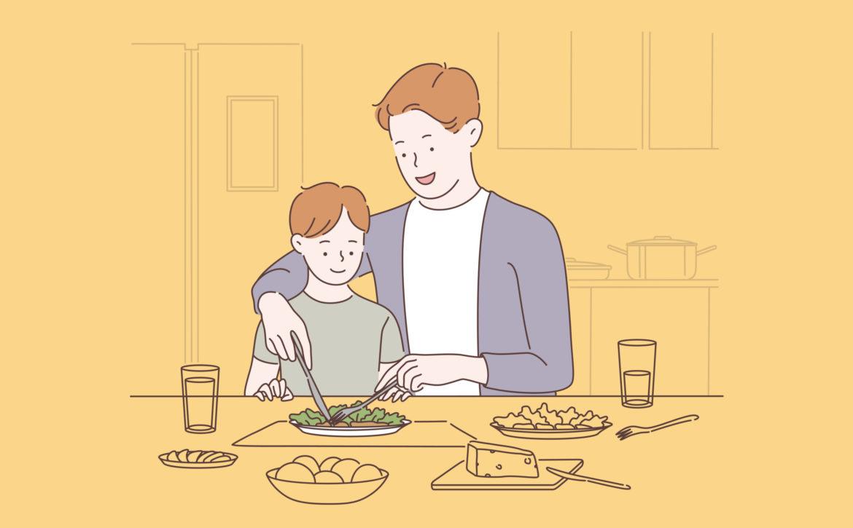Family bonding, happy parenting concept